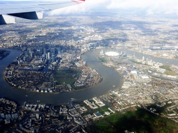 London from an aeroplane