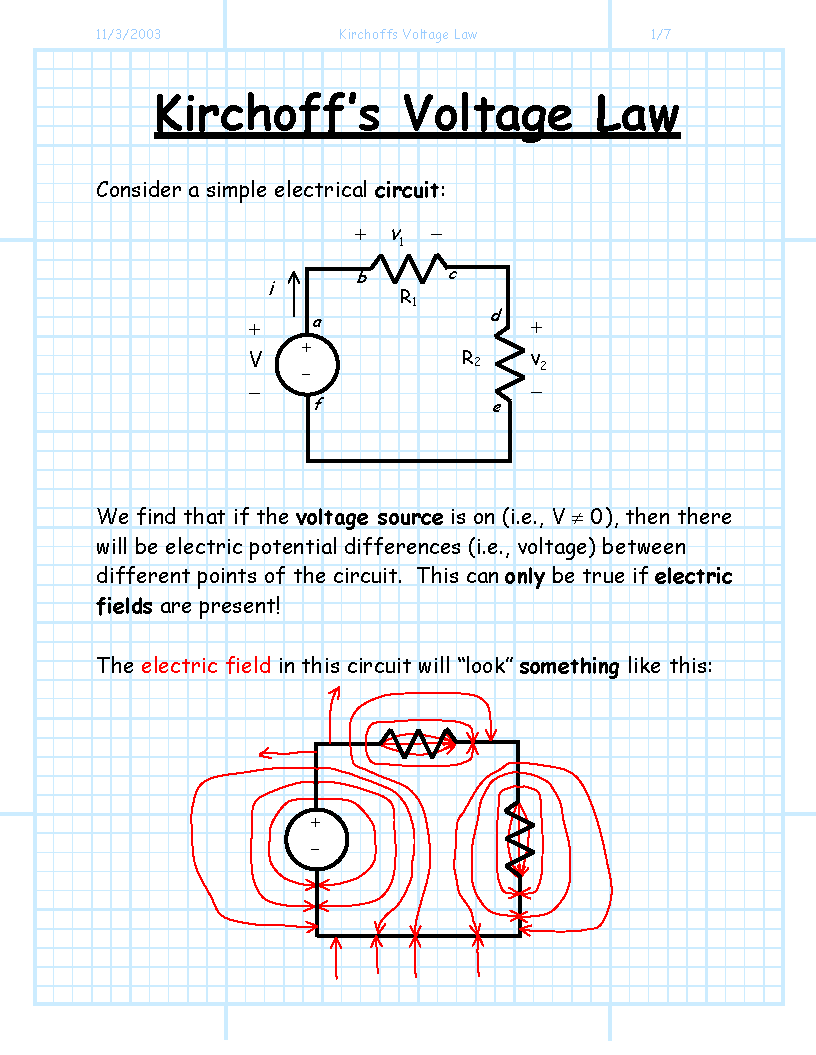 hight resolution of kirchoffs voltage la