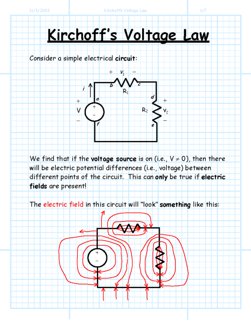 small resolution of kirchoffs voltage la