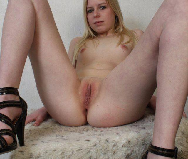 Tiny Titties Teen Spreading Legs