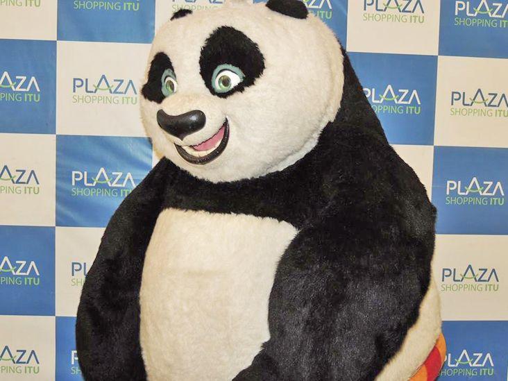 Personagem Po, de Kung Fu Panda, retorna ao Plaza Shopping Itu sábado