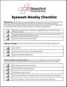 eye wash station weekly inspection checklist. Black Bedroom Furniture Sets. Home Design Ideas