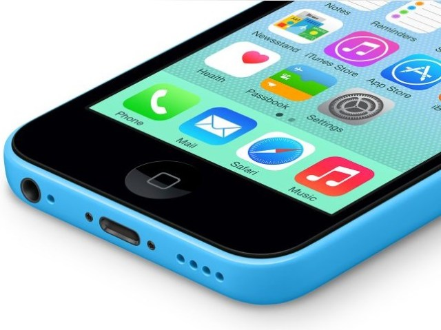 apple iphone 5c blue front