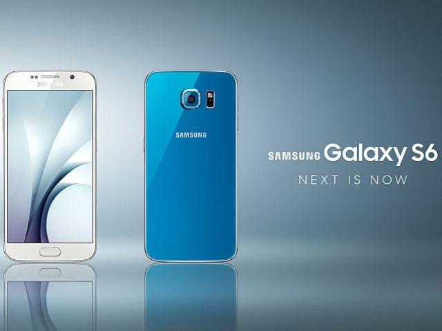 samsung galaxy s6 blue press image