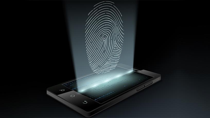smartphone fingerprint scanning heads