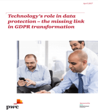 Technology's role in data protection - the missing link in GDPR transformation