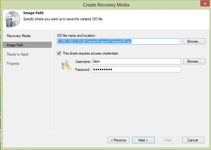 How to Create a Recovery Media and perform a Bare Metal