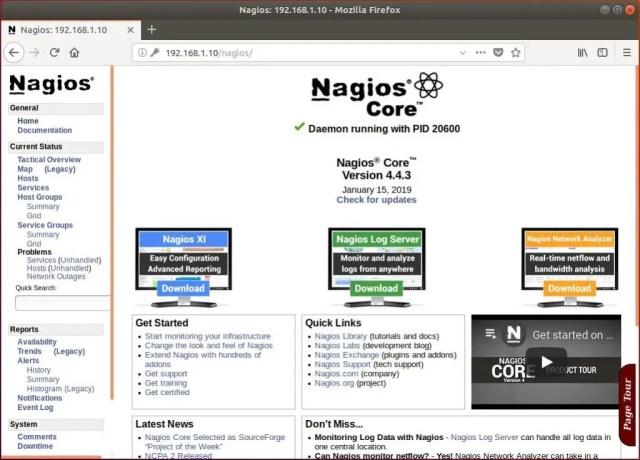 Install Nagios 4.4.3 on Ubuntu 18.04 - Nagios Monitoring Home Page