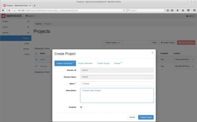 Configure OpenStack Networking - Create OpenStack Project