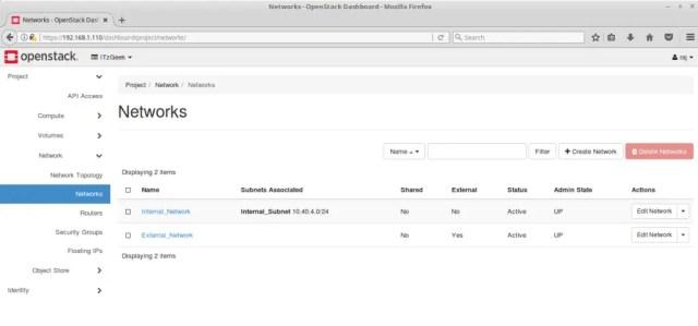 Configure OpenStack Networking - OpenStack Networks