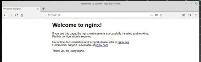 Install Linux, Nginx, MariaDB, PHP (LEMP Stack) on Linux Mint 19 - Nginx's Default Page