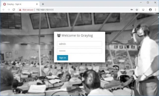 Install Graylog 3.0 on CentOS 7 - Gralog Login Screen
