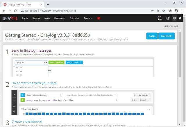 Graylog Getting Started Page