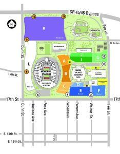 Athletics parking lots map also white lot indiana university auditorium rh iuauditorium