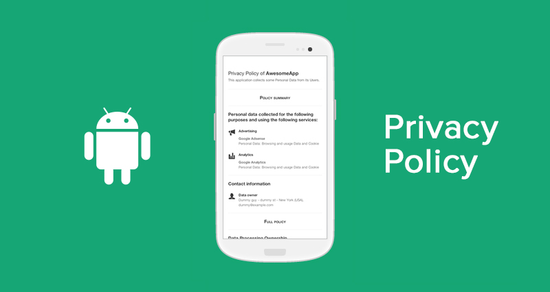 Privacy Policy for Android Apps  Template and Guide