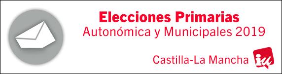 Banner Elecciones Primarias IU CLM 2019