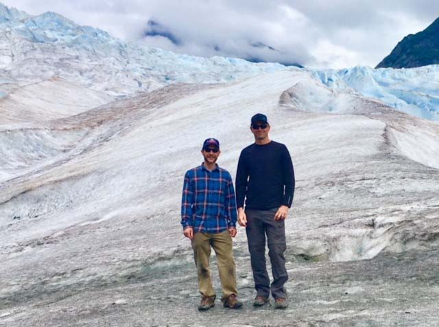 L19 Joel Ramert and Chad Reynolds on Mendenhall glacier in Juneau Alaska