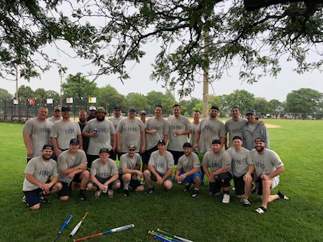 L2 Local 2 softball team takes second place in the DAD's Day Trades Softball Tournament in July.