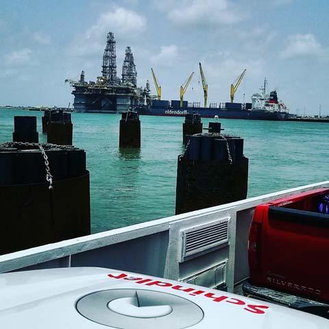 L81 Jonathan Sharpless on his way to Port Aransas