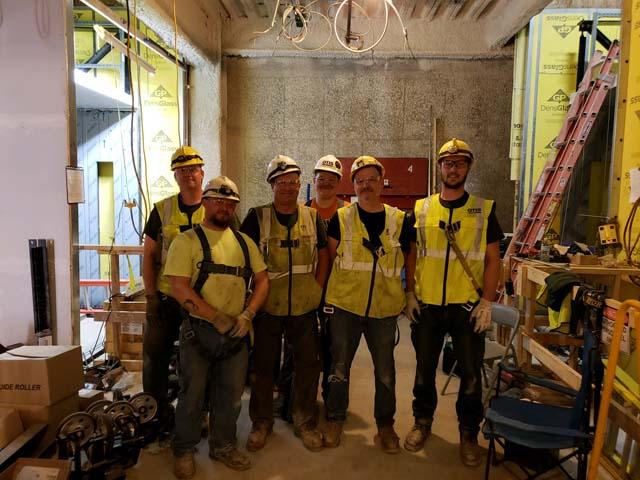 L85 Otis construction crew working in Muskegon