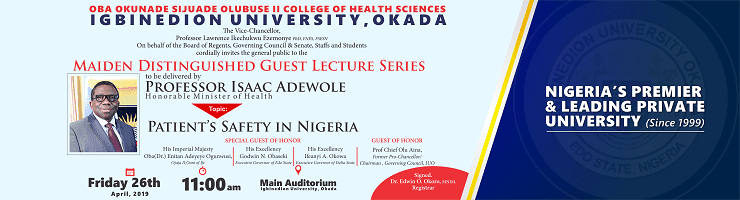 igbinedion university madien distinguished guest lecture series
