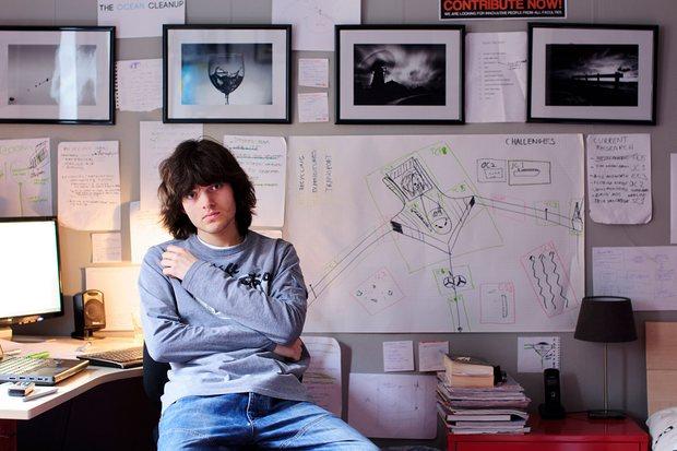 ผู้ก่อตั้งและ CEO ของ The Ocean Cleanup เด็กหนุ่มวัย 19 ปี Boyan Slat | Photograph: The Ocean Cleanup