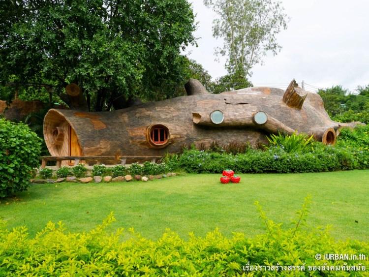ชีวิตในโพรงไม้ ติดเขา บ้านขอนไม้ @Theerama Cottage สวนผึ้งรีสอร์ท 19 - 100 Share+