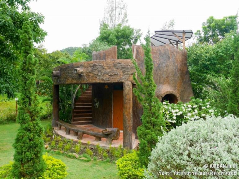 ชีวิตในโพรงไม้ ติดเขา บ้านขอนไม้ @Theerama Cottage สวนผึ้งรีสอร์ท 17 - 100 Share+