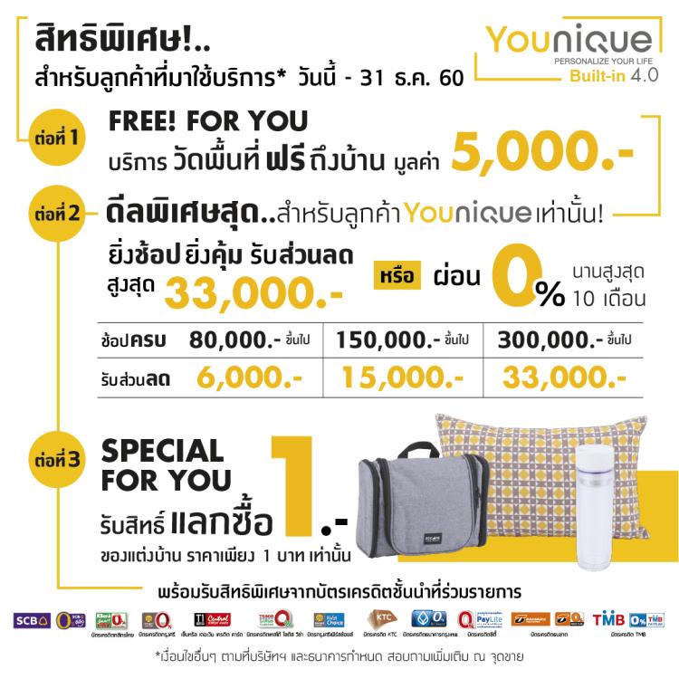 Younique เทคโนโลยีบิวท์อิน 4.0 ครั้งแรกในไทย มีเป็นล้านดีไซน์ รู้ราคาใน 1 นาที โดย Index Livingmall 6 - Advertorial