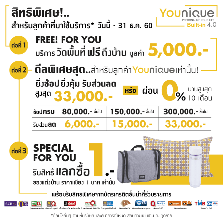 Younique เทคโนโลยีบิวท์อิน 4.0 ครั้งแรกในไทย มีเป็นล้านดีไซน์ รู้ราคาใน 1 นาที โดย Index Livingmall 55 - Built-in