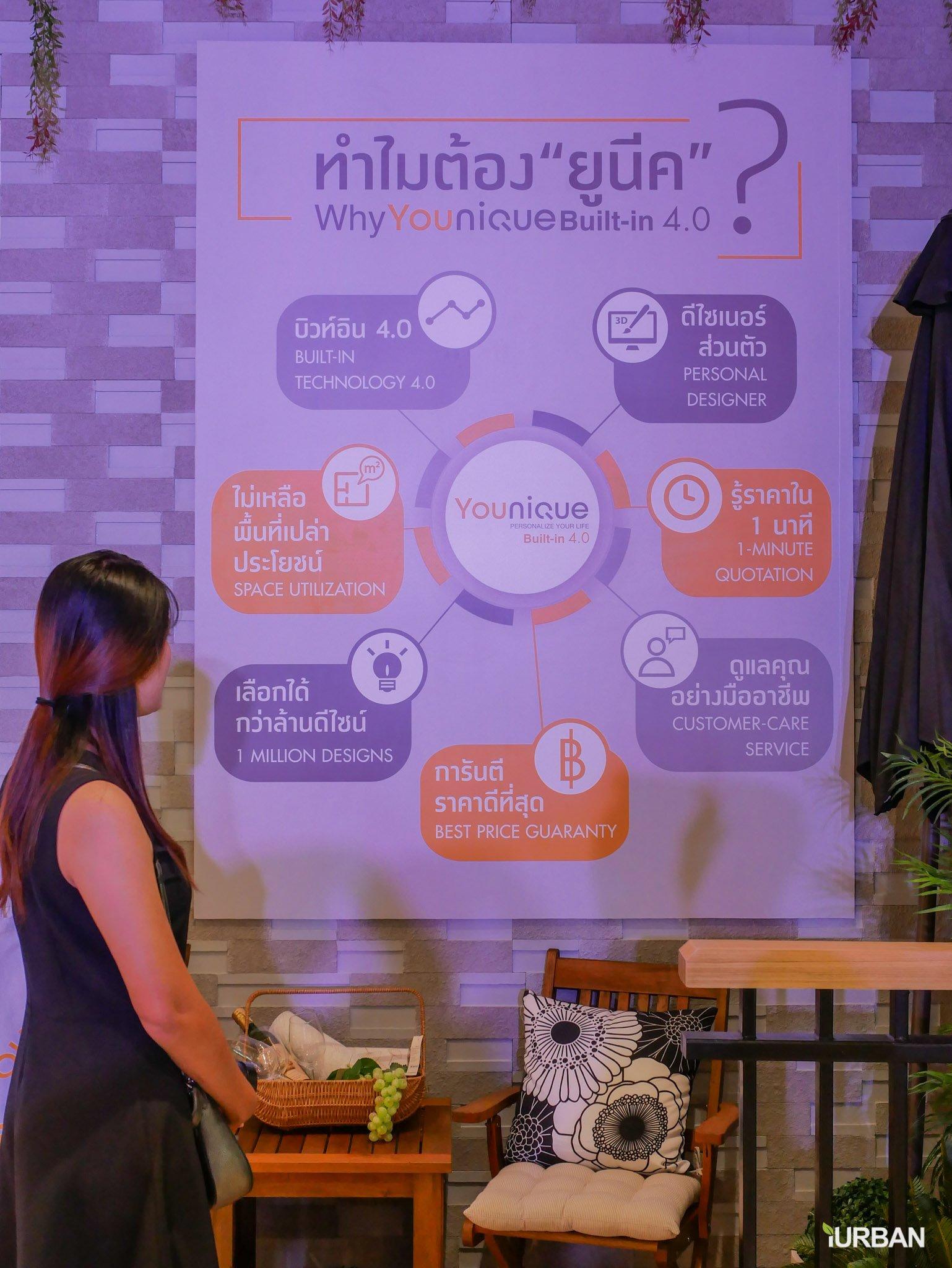 Younique เทคโนโลยีบิวท์อิน 4.0 ครั้งแรกในไทย มีเป็นล้านดีไซน์ รู้ราคาใน 1 นาที โดย Index Livingmall 54 - Built-in