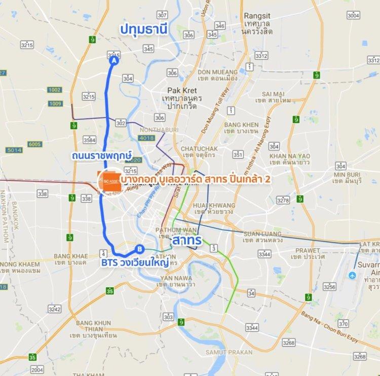bangkokboulevard sp2 map3 min 750x742 บางกอก บูเลอวาร์ด สาทร ปิ่นเกล้า 2 ชมบ้านหรูใจกลางราชพฤกษ์ ออกแบบสไตล์ Modern Nordic จาก SC Asset
