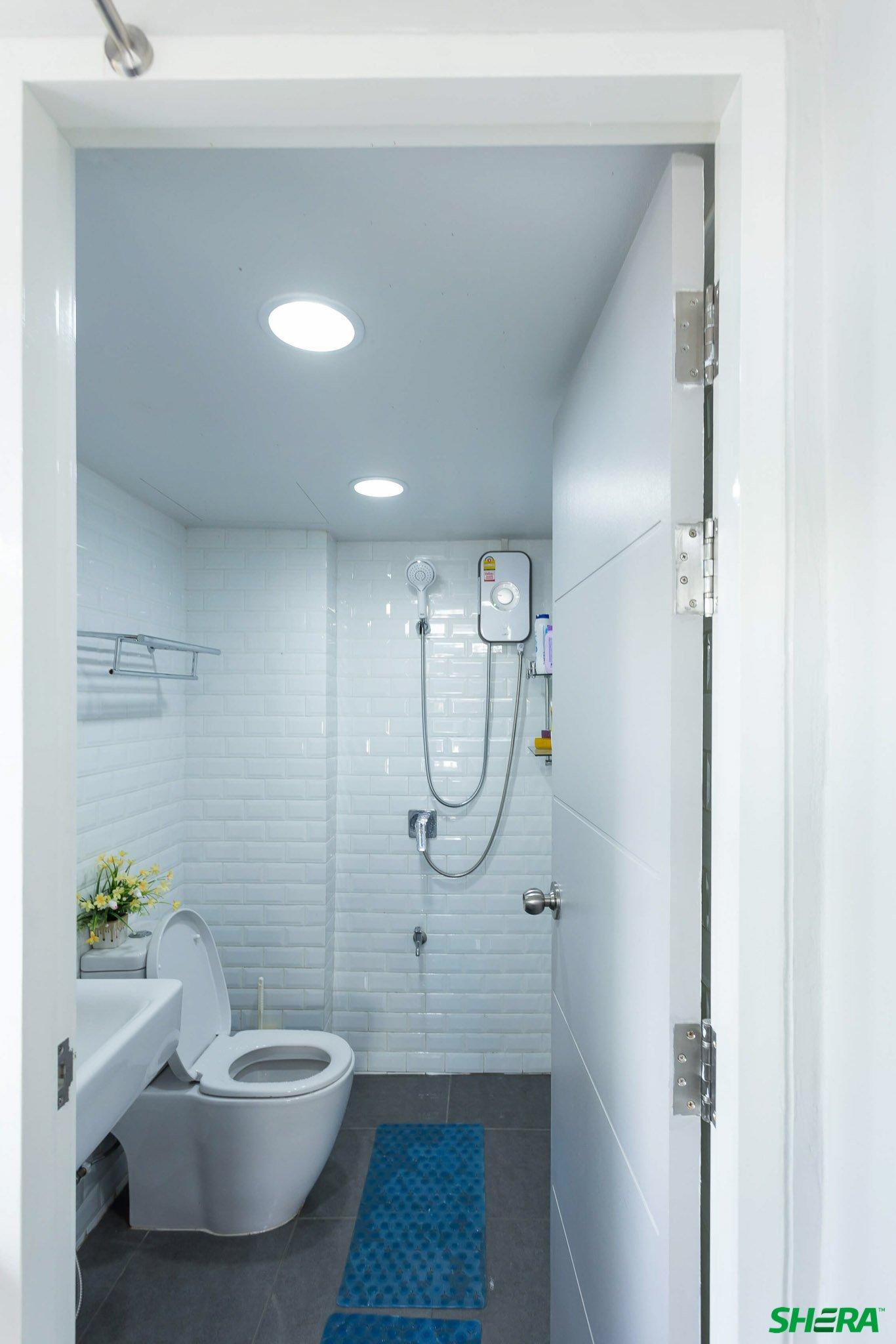 รีโนเวทบ้าน แปลงคอนโดเก่าเป็นสไตล์ Loft และประตูสวยทนด้วยไฟเบอร์ซีเมนต์จาก Shera 31 - fiber cement wood