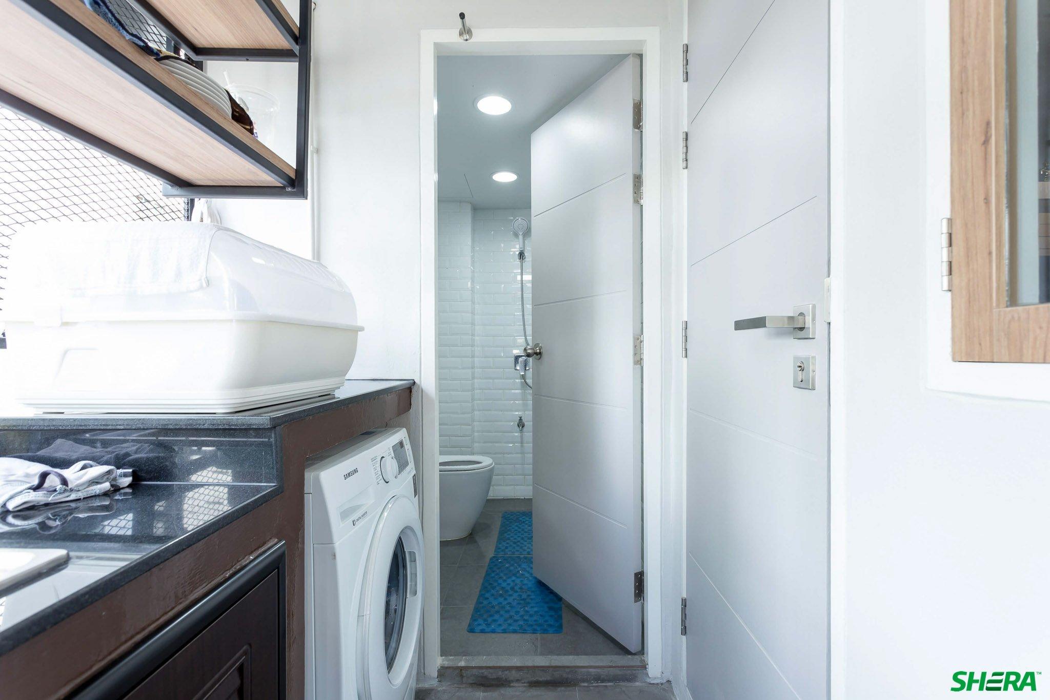 รีโนเวทบ้าน แปลงคอนโดเก่าเป็นสไตล์ Loft และประตูสวยทนด้วยไฟเบอร์ซีเมนต์จาก Shera 37 - fiber cement wood