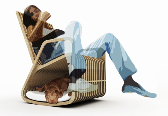 Rocking Chair Hybrid Furniture 13 - Creative