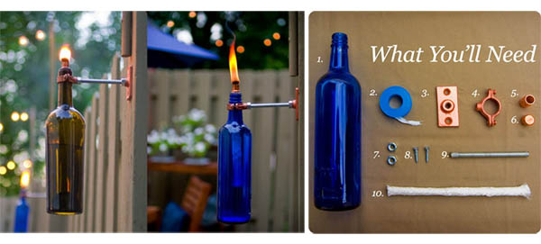 DIY:Recycled Wine Bottle Torch 14 - DIY