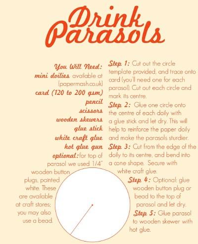 DIY : Drink Parasols 16 -