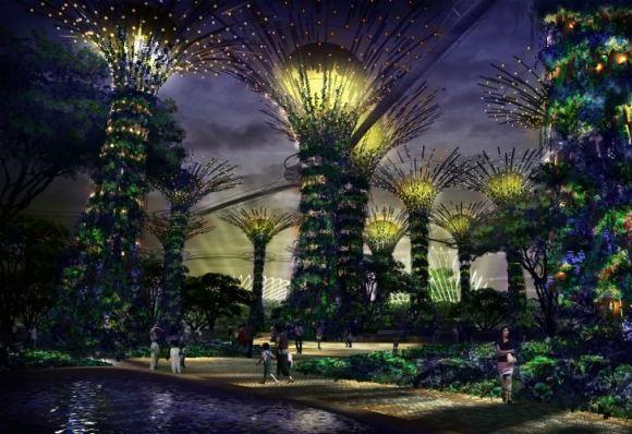 Gardens by the Bay Grant Associates 12 580x398 Garden by the bay..สวนใหญ่ทีสุดที่สิงคโปร์ทุ่มทุนสร้าง
