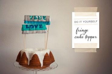 DIY : Cake Topper 28 - DIY