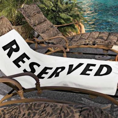 Reserved Beach Towel 14 - Beach