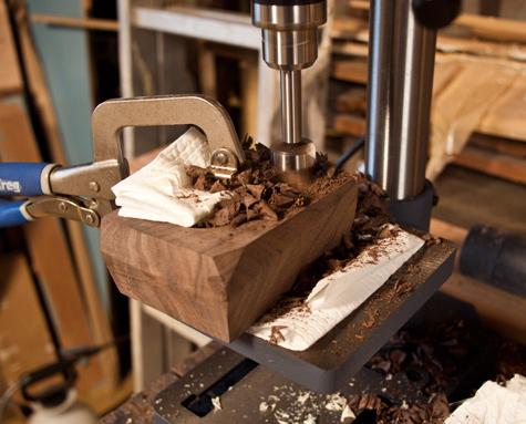 DIY project: Wood bud vase and Salt dish 14 -