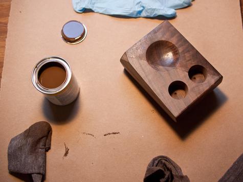 DIY project: Wood bud vase and Salt dish 15 -