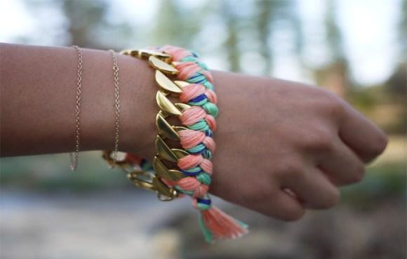 DIY Woven Chain Bracelet 18 - DIY