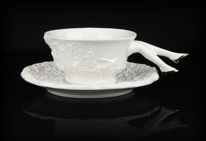 Tea set with legs 15 - ceramic