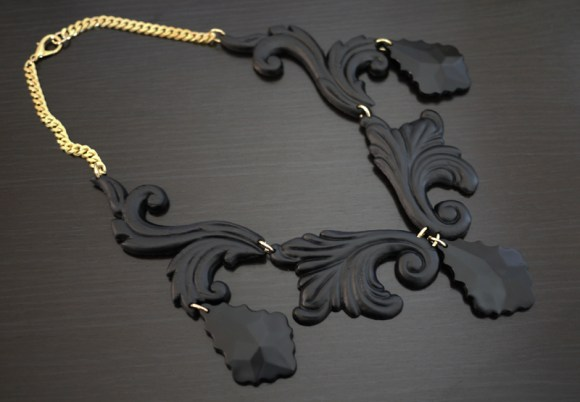 DIY.Black necklace 19 -