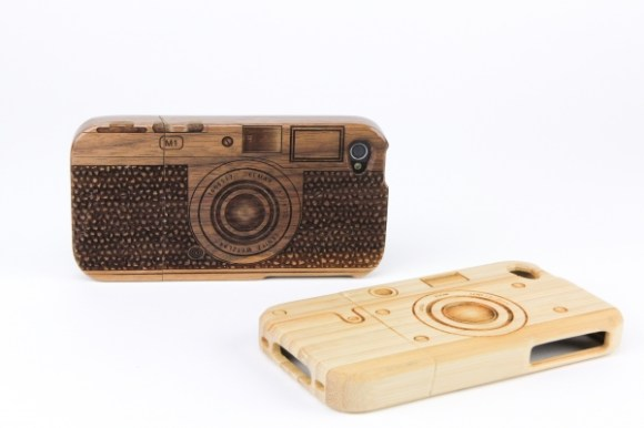 Wood camera Iphone4 case 14 - bamboo