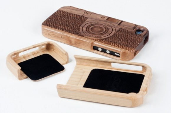 Wood camera Iphone4 case 17 - bamboo