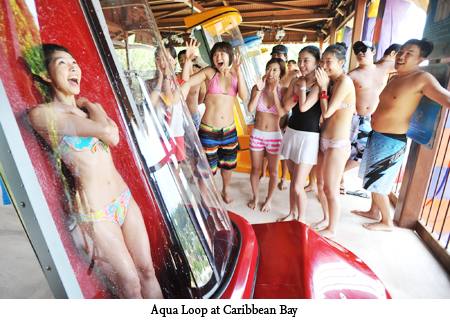 Aqua Loop เครื่องเล่นสุดชิคที่สวนน้ำ Caribbean bay 13 - Aqua Loop