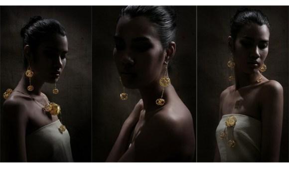 "13 580x341 ""Lanna"" Gold Lantern"