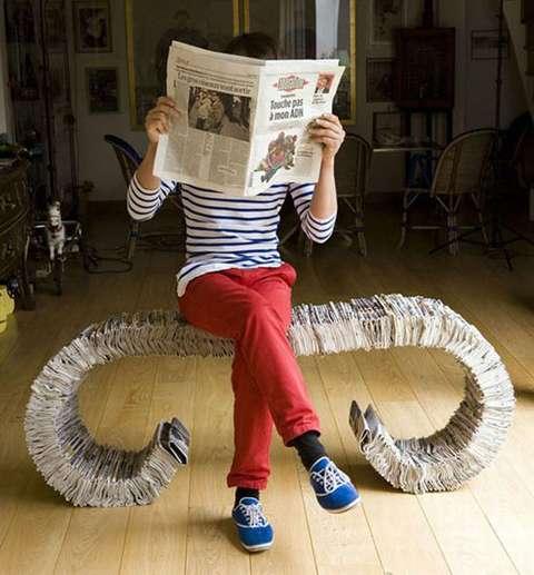 ไอเดียรีไซเคิล กระดาษหนังสือพิมพ์ 13 - paper craft